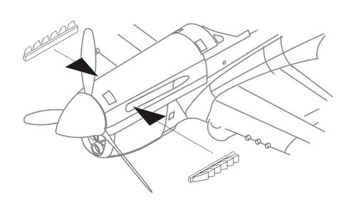 1/72 P-40E Exhausts for Aca/Airf./Has/Hobby Boss