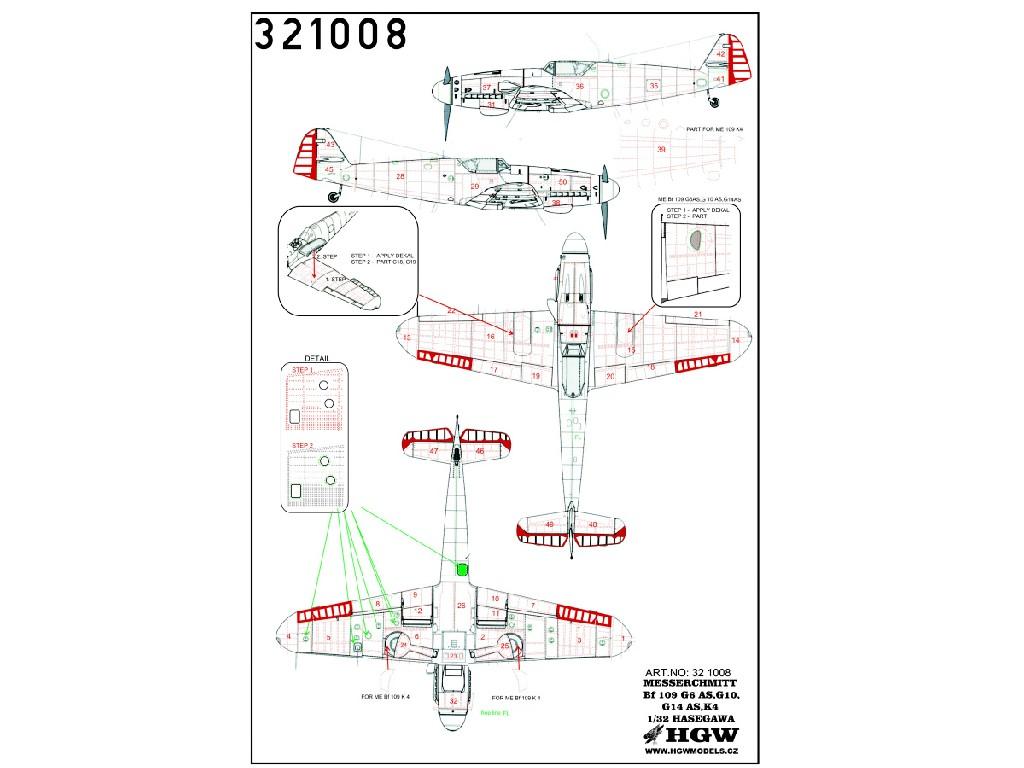 1/32 Fw 190G-10/K4/G6,14AS - Riveting Sets - Riveting set + Control Surfaces
