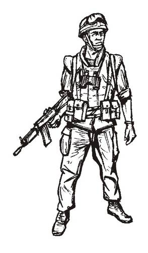 1/35 Israeli soldier road patrol,Lebanon 2006