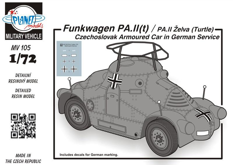 1/72 Funkwagen PA.II(t) / PA.II Želva (Turtle) Cze