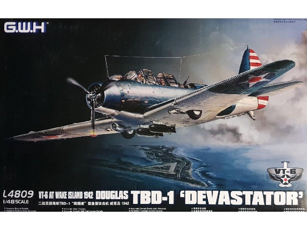 1/48 WWII Douglas  TBD-1 Devastator - VT-6 at Wake Island 1942