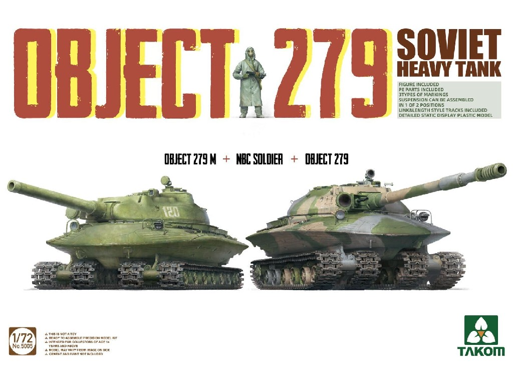 1/72 Object 279 + Object 279M + NBC Soldie