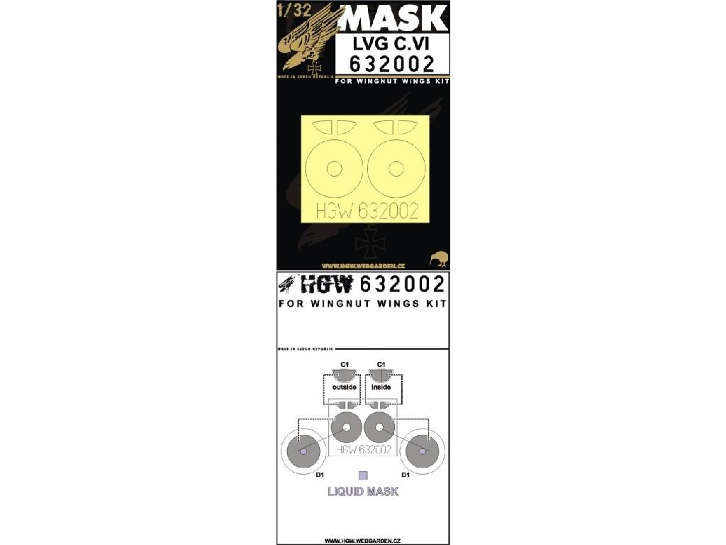1/32 LVG C.VI - Masks - Wingnut Wings