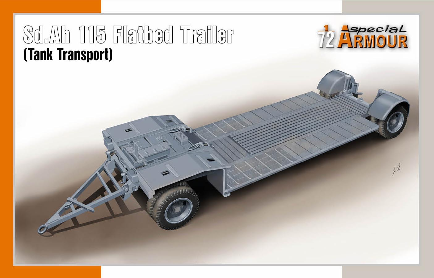 1/72 Sd.Ah 115 Flatbed Trailer (Tank Transport)
