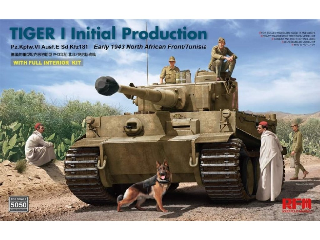 Rye Field Model - 5050 - Tiger I initial production early 1943 w/full interior - RFM 1:35