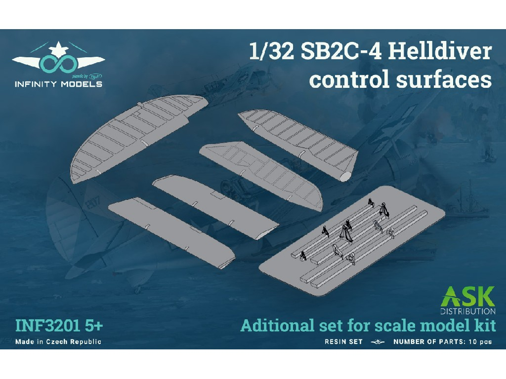 1/32 SB2C-4 Helldiver control surfaces
