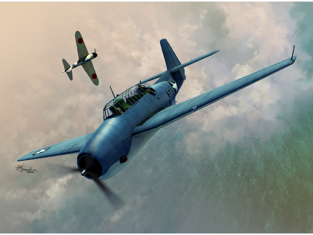 1/72 TBF-1 Avenger over Midway and Guadalcanal