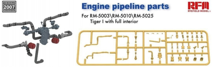 1/35 Engine pipeline parts for RM-5003 RM-5025 - RFM