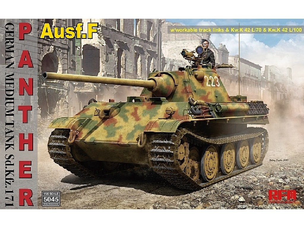1/35 Panther Ausf.F (Sd.Kfz.171) German Medium Tank w/Workable Track Links