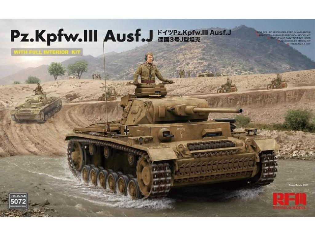 Rye Field Model - RFM5072 - Pz. Kpfw. III Ausf. J w/full interior - RFM 1:35