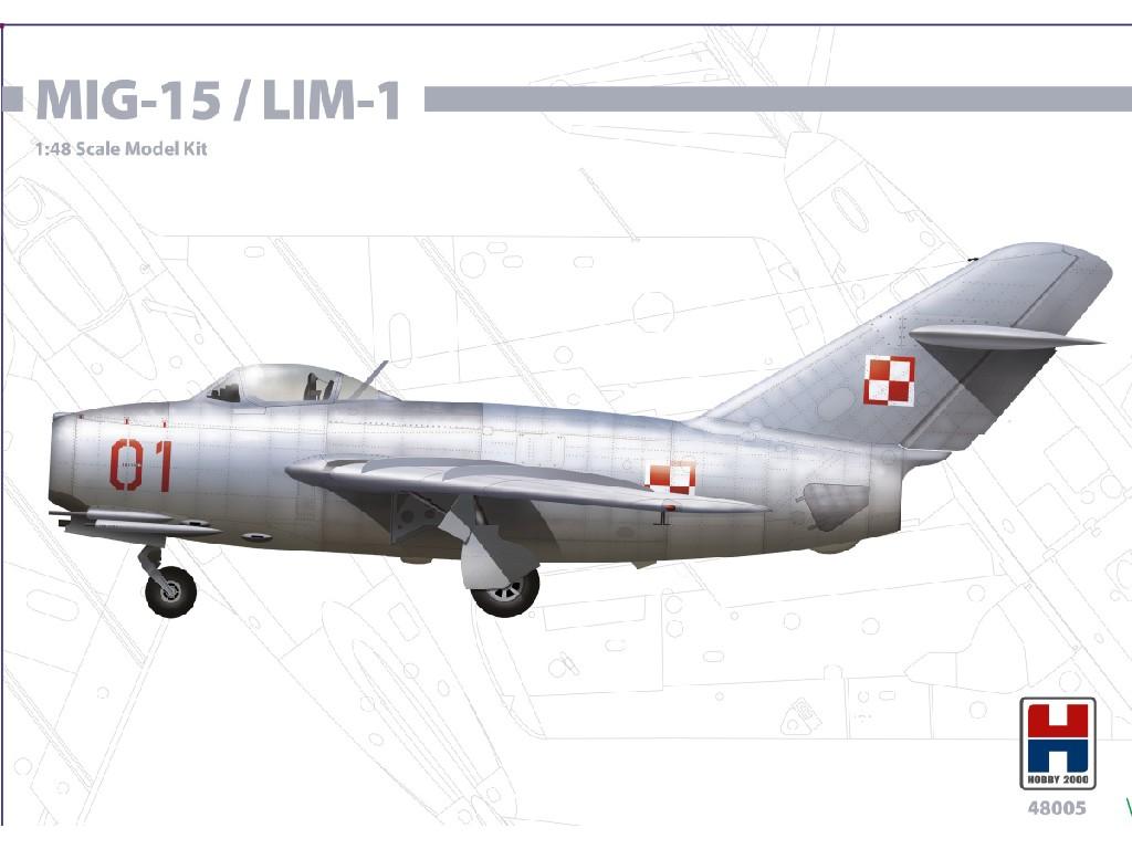 1/48 MIG-15 / LIM-1 - Bronco + Cartograf + P-mask