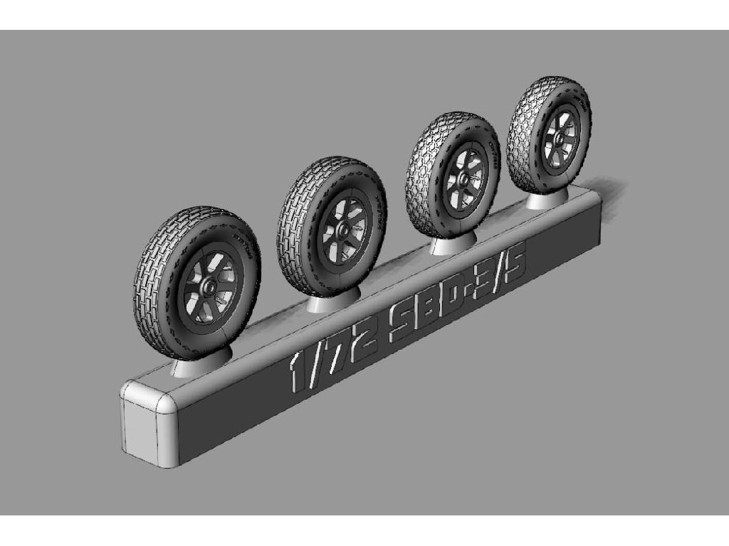 1/72 SBD Dauntless Wheels Resin wheels