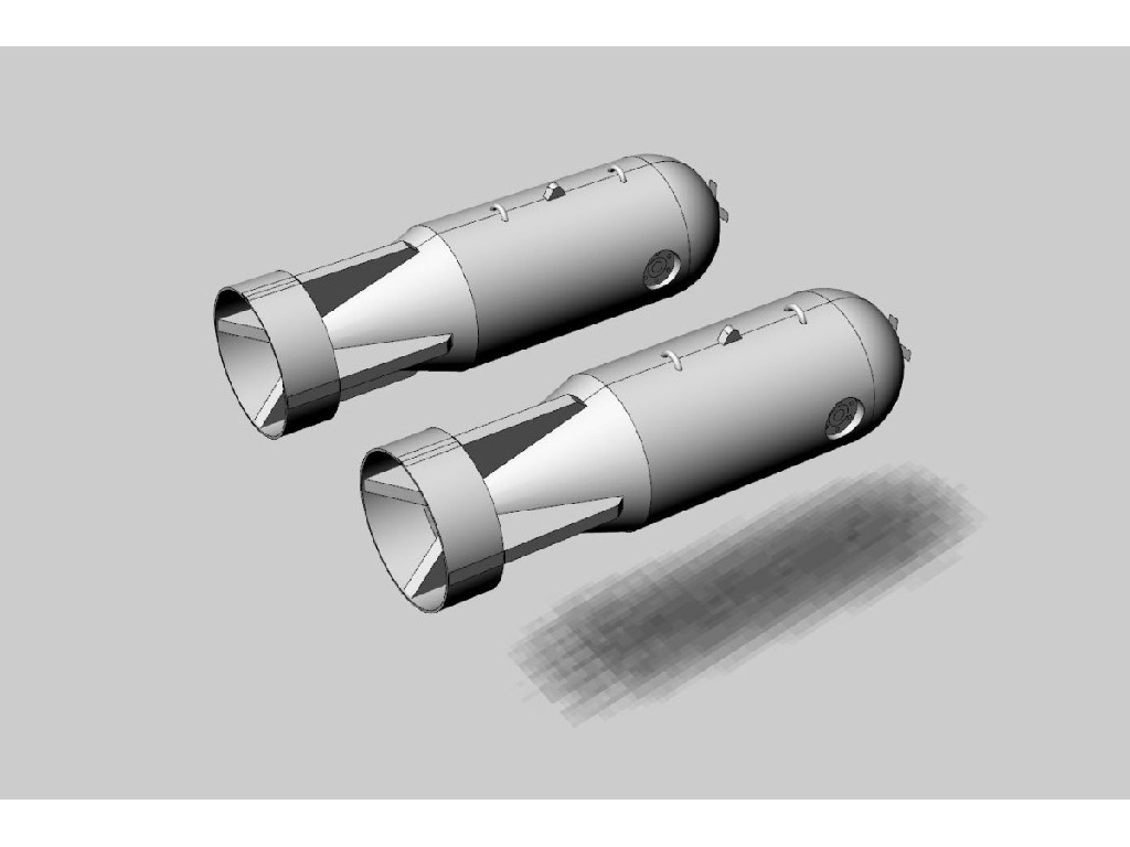 1/48 Mk54 depth charge (2pcs) Resin set of modern U.S. depth charges (2pcs)