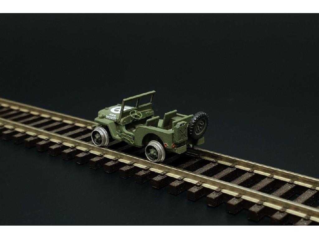 1/120 Railway Jeep (2pcs) Resin construction kit railway jeep (2pieces)