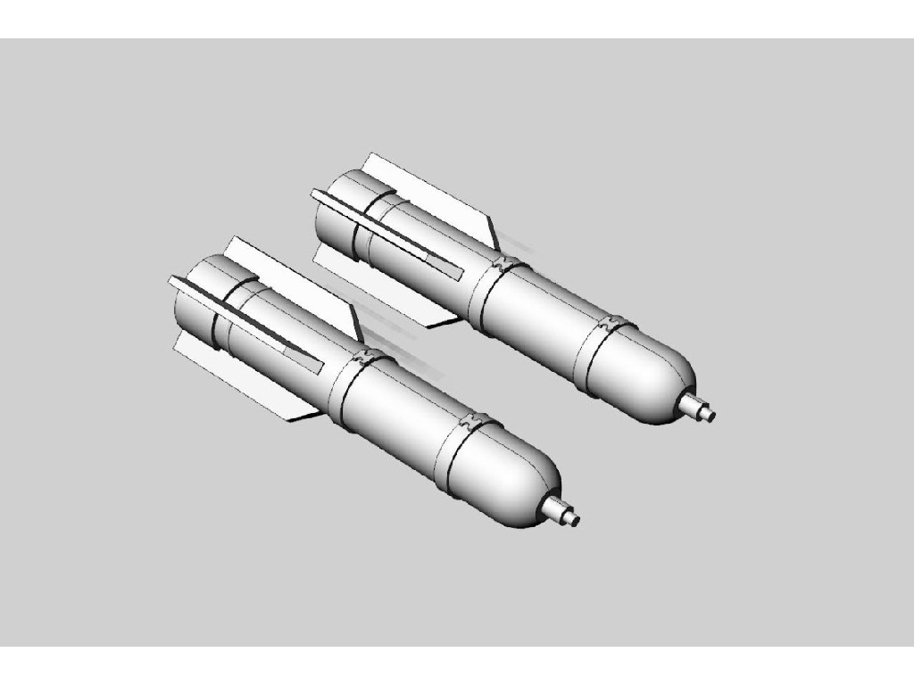 1/48 M26 flare (2pcs) Resin ser of U.S. WWII flares