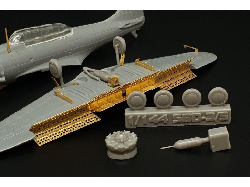 1/144 SBD-3 Dauntless  Exterior (BRENGUN kit)  Photoetched and resin set for Brengun kit