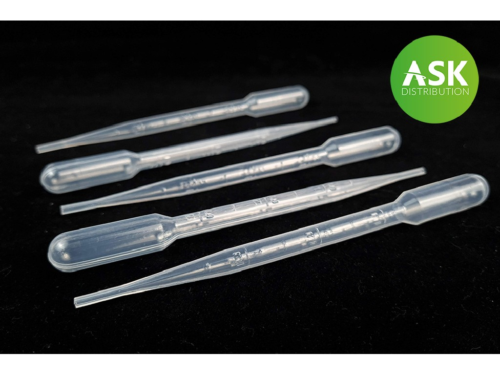 Pipettes for mixing colors Medium Size 5x3ml