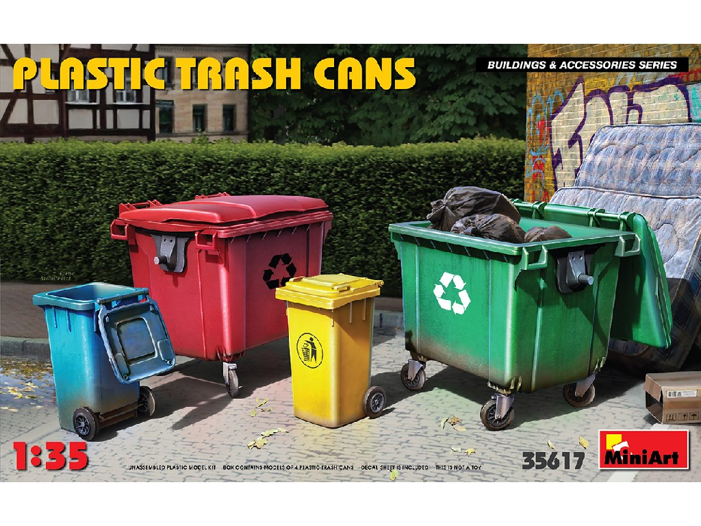 Miniart - 35617 - Plastic Trash Cans - Miniart 1:35