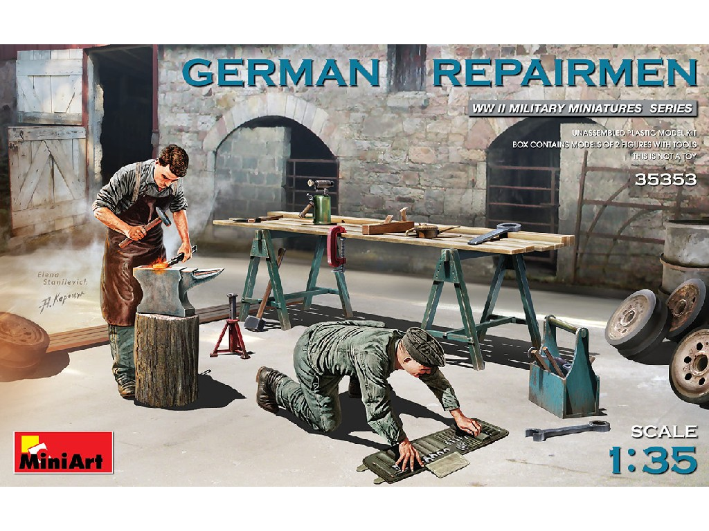 Miniart - 35353 - GERMAN REPAIRMEN - Miniart 1:35