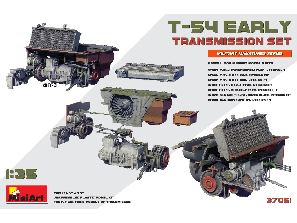 Miniart - 37051 - T-54 Early Transmission Set - Miniart 1:35