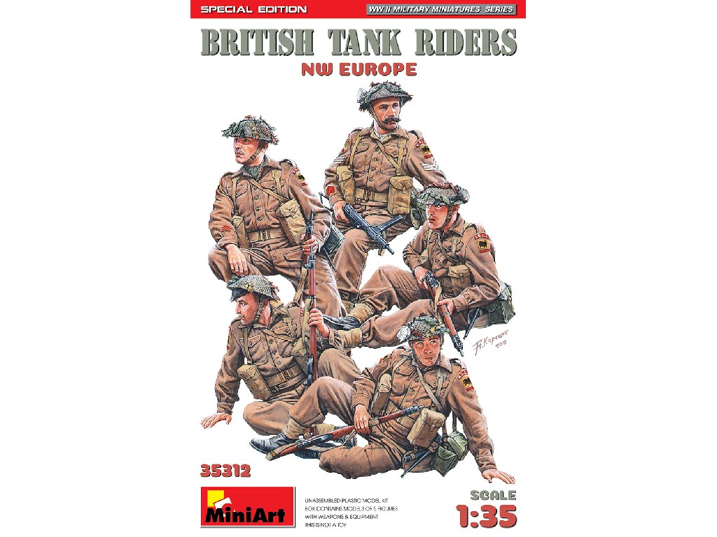 Miniart - 35312 - British Tank Riders (NW Europe). Special Edition - Miniart 1:35