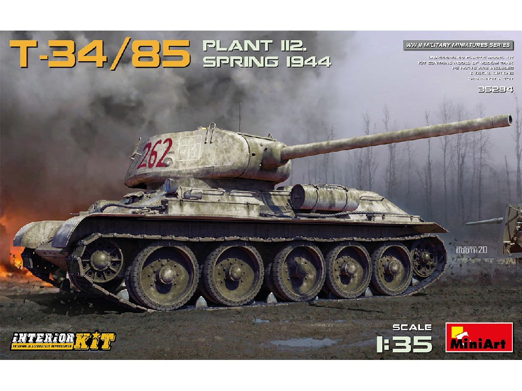 Miniart - 35294 - T-34-85 Plant 112. Spring 1944. Interior Kit - Miniart 1:35