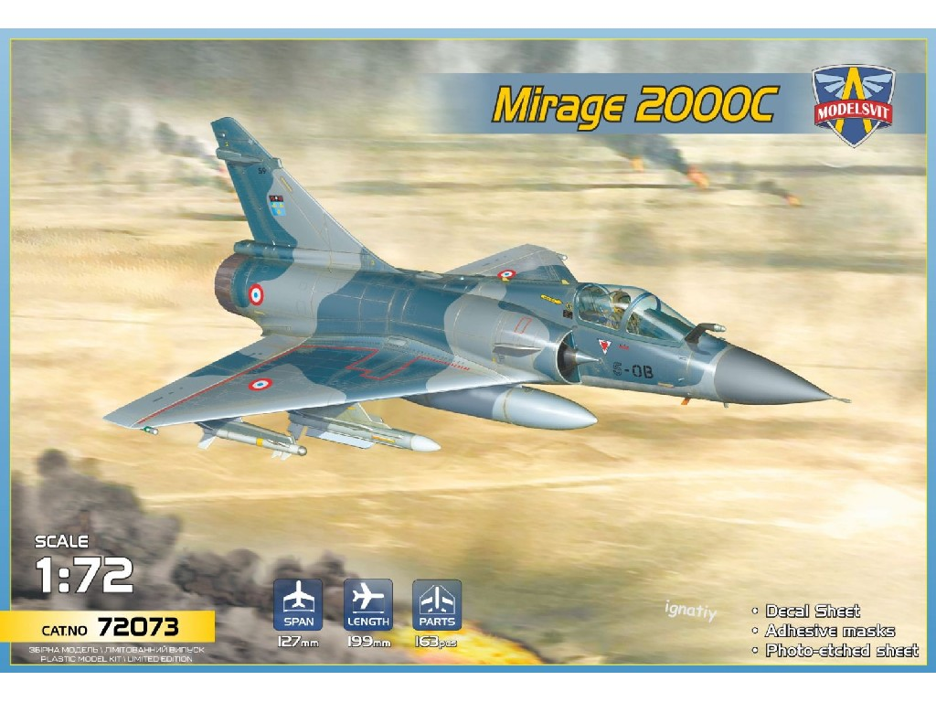 1/72 Mirage 2000C multirole fighter (5 camo schemes) - Modelsvit