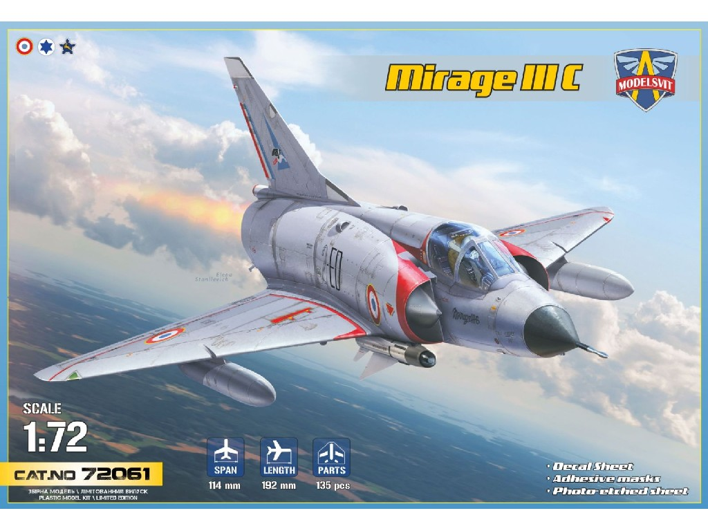 1/72 Mirage IIIC all-weather interceptor (6 camo schemes) - Modelsvit