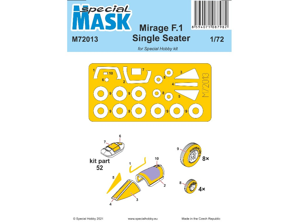 1/72 Mirage F.1 Single Seater Mask - Special Hobby