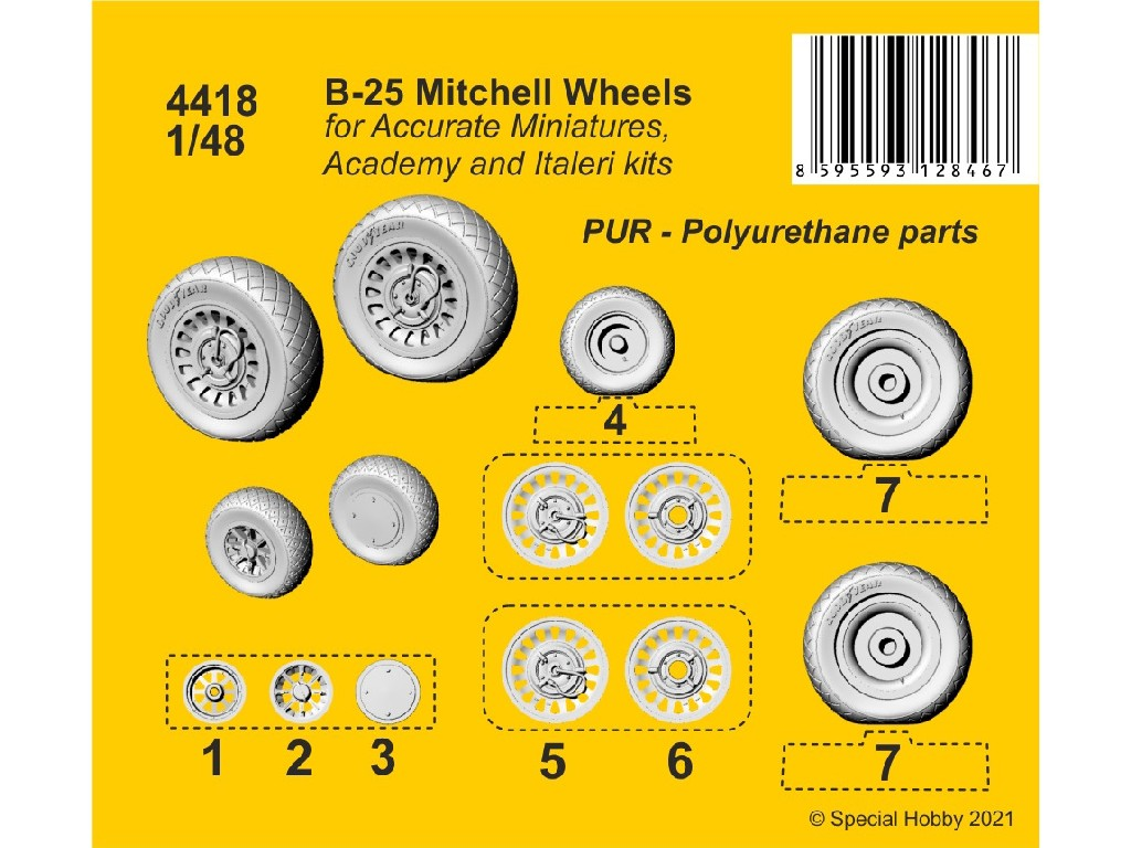 CMK - 4418 - B-25 Mitchell Wheels 1:48