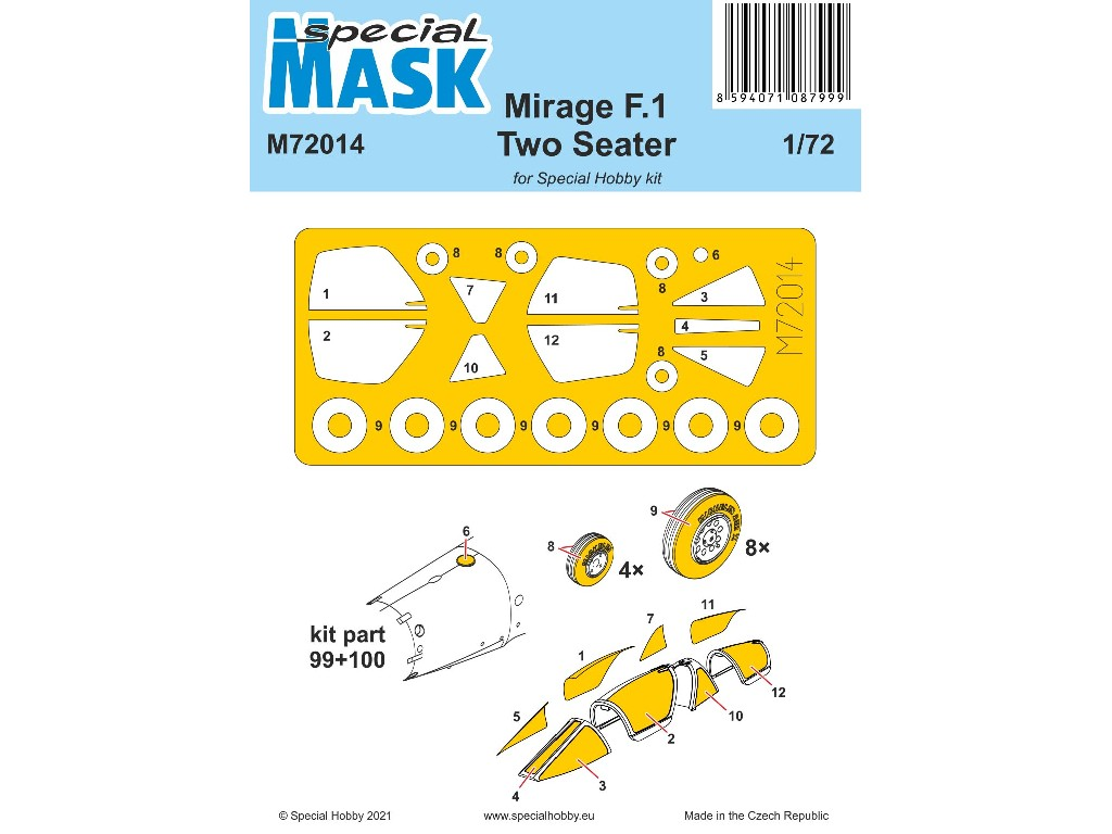 1/72 Mirage F.1 Two Seater Mask - Special Hobby
