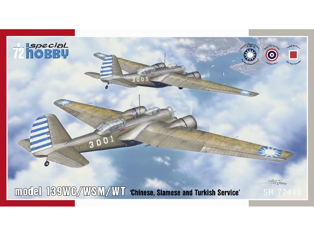 1/72 Model 139WC/WSM/WT 'Chinese, Siamese and Turkish Service' - Special Hobby