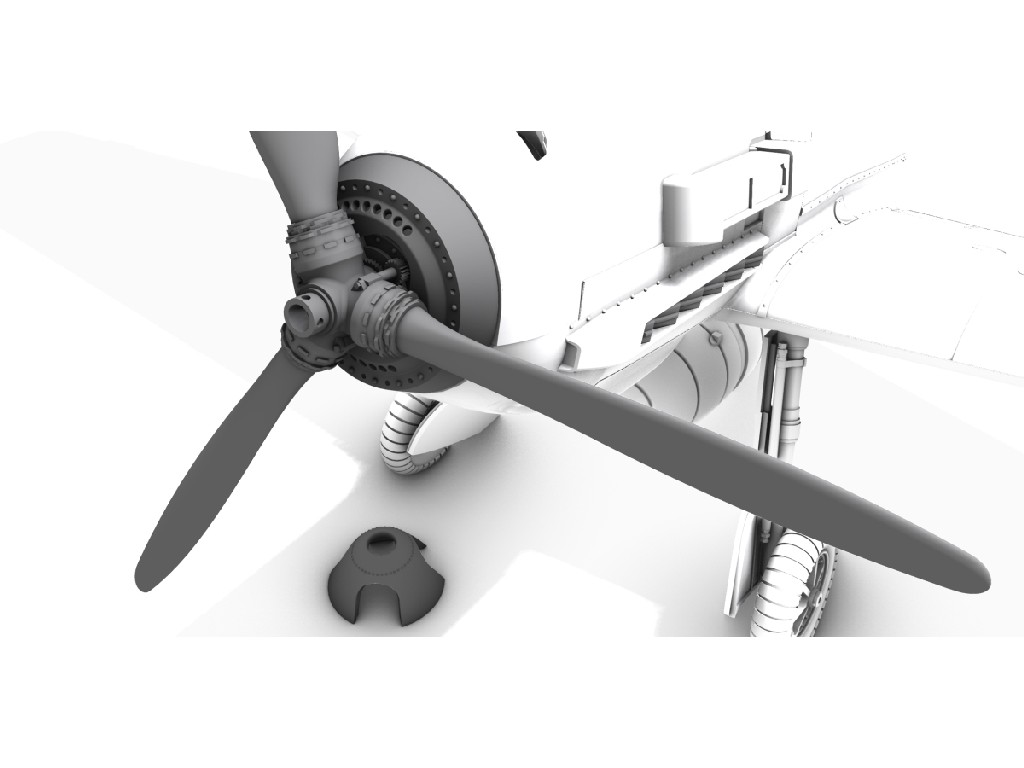 CMK - Q72389 - Messerschmitt Bf 109E Detailed Propeller Spinner - CMK 1:72