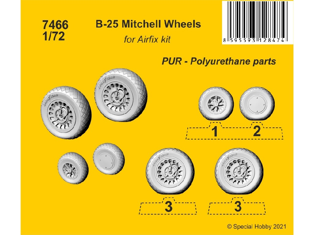 CMK - 7466 - B-25 Mitchell Wheels 1:72