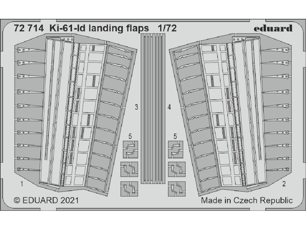 1/72 Ki-61-Id landing flaps for TAMIYA kit