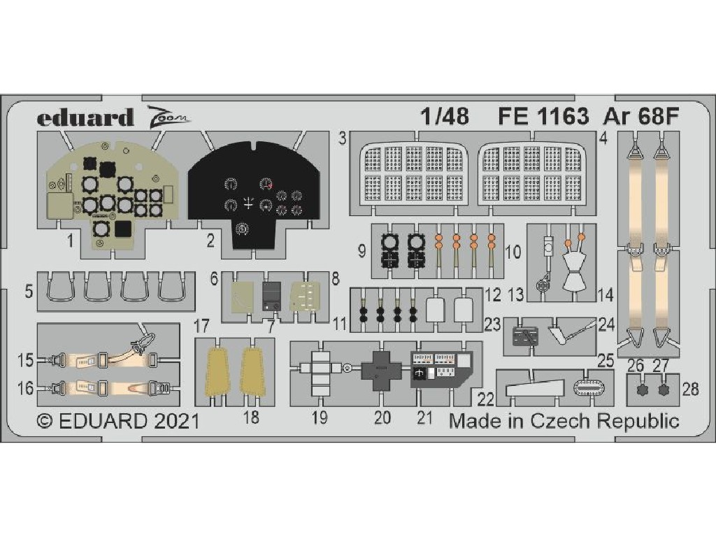 1/48 Ar 68F for RODEN kit