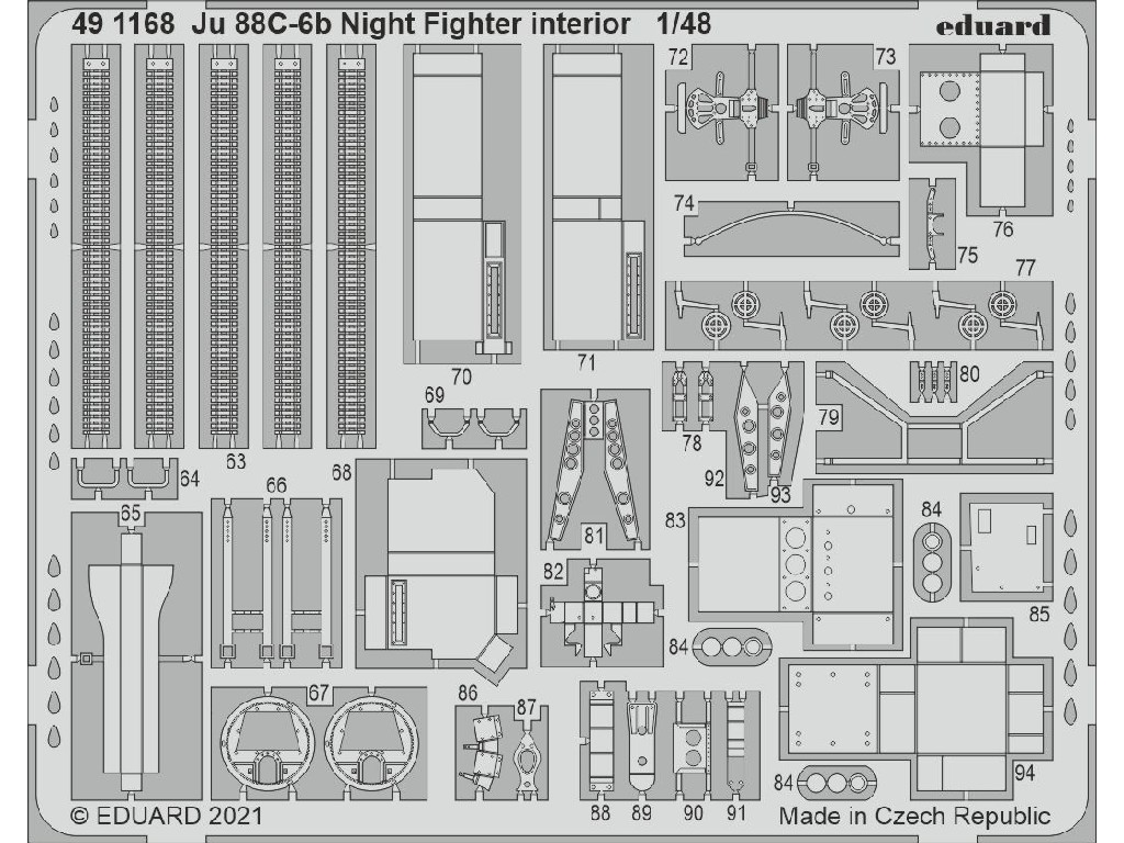 1/48 Ju 88C-6b Night Fighter interior for ICM kit