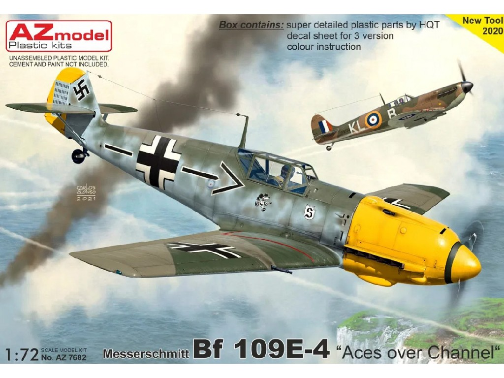 "AZ Model - AZ7682 - Bf 109E-4 ""Aces over Channel"" 1:72"