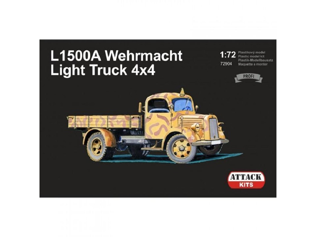 Attack Kits - 72904 - L1500 Wehrmacht Light Truck 4x4 (PE exterior set, resin alternative wheels) 1:72