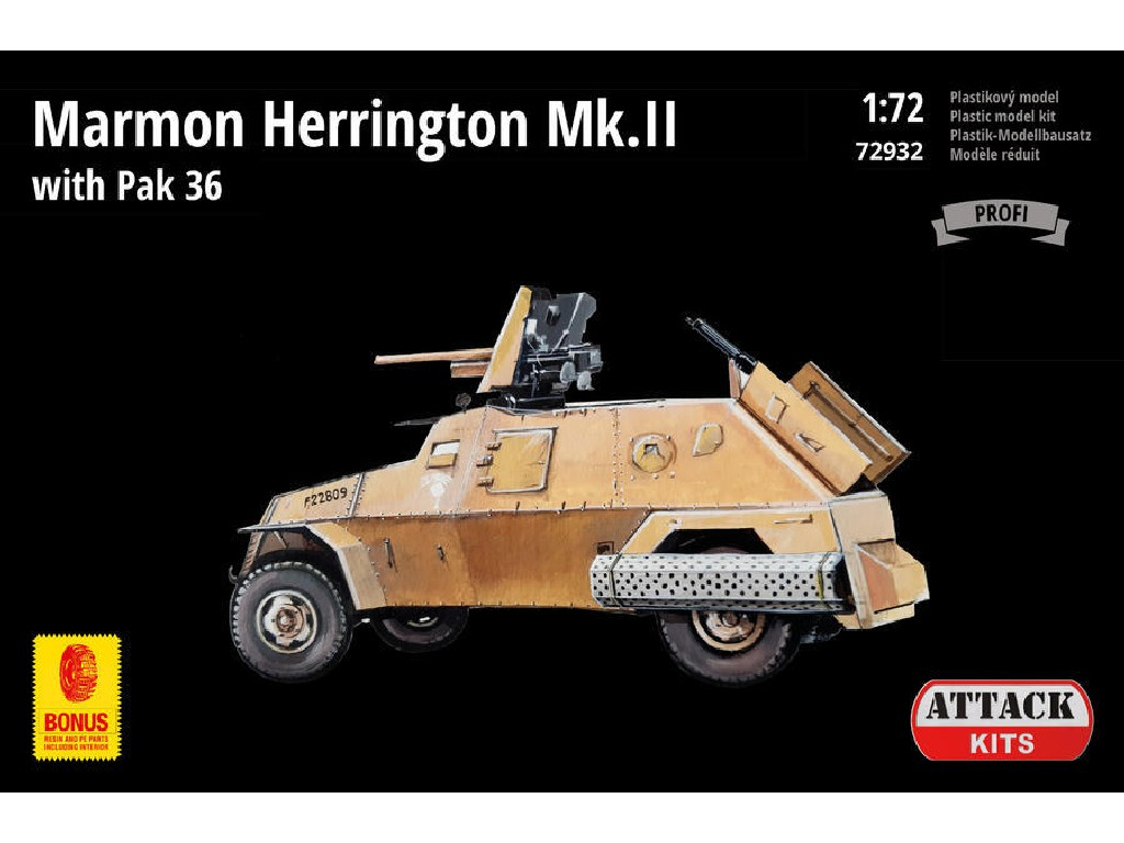 Attack Kits - 72932 - Marmon Herrington Mk.II with Pak 36 (PE exterior, resin interior plus alternative wheels) 1:72
