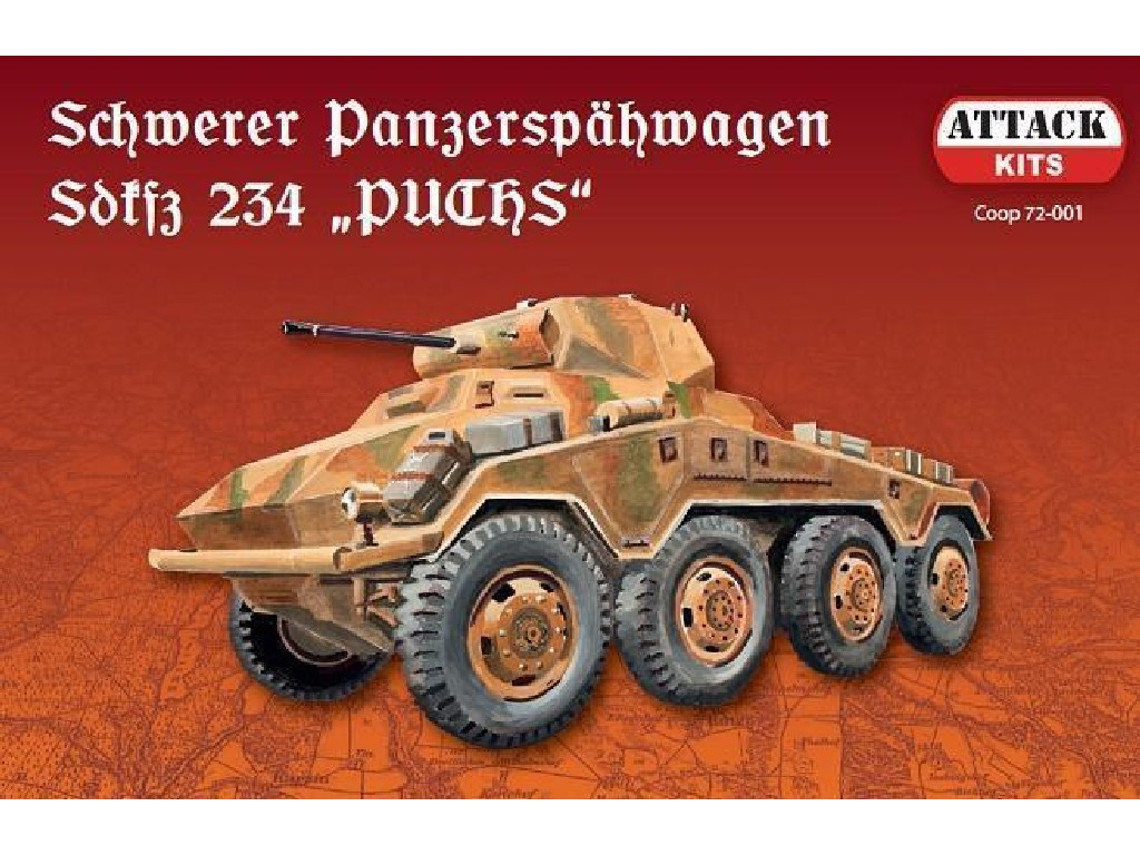 "Attack Kits - COOP72001 - Sd.Kfz.234 ""Puchs"" (with metal barrel) 1:72"