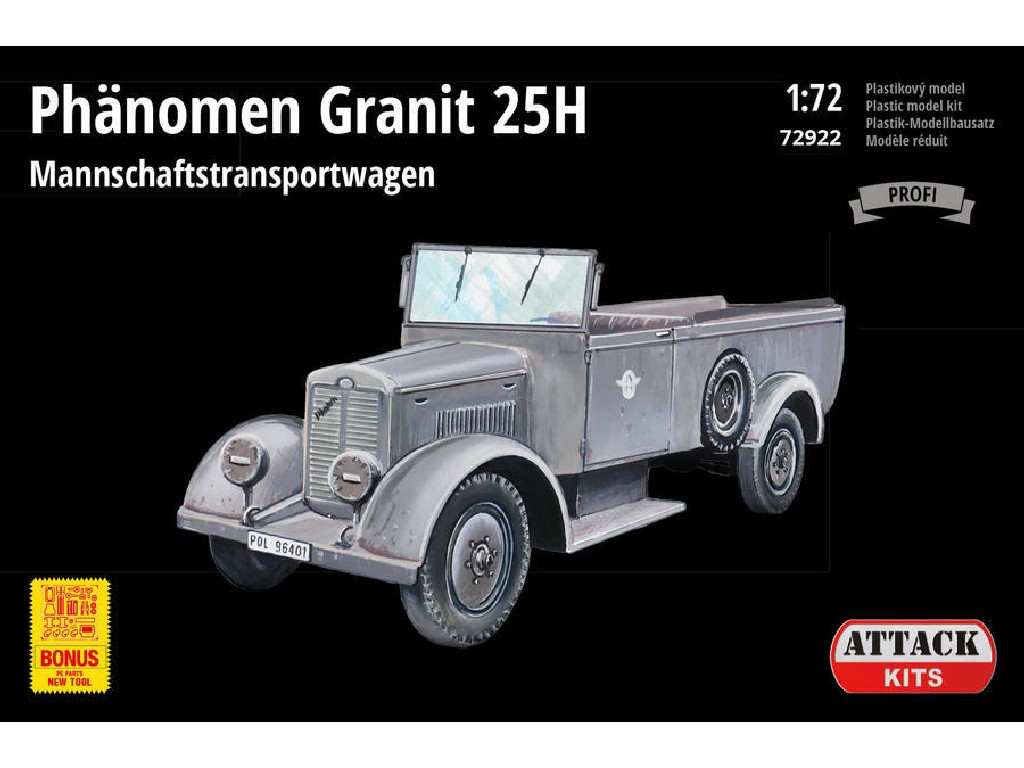 Attack Kits - 72922 - Phänomen Granit 25H Mannschaftstransportwagen (PE parts) NEW TOOL 1:72