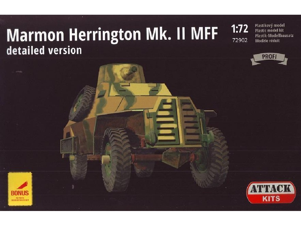 Attack Kits - 72902 - Marmon Herrington Mk.II MFF (PE exterior set, resin detailed wheels and guns) 1:72