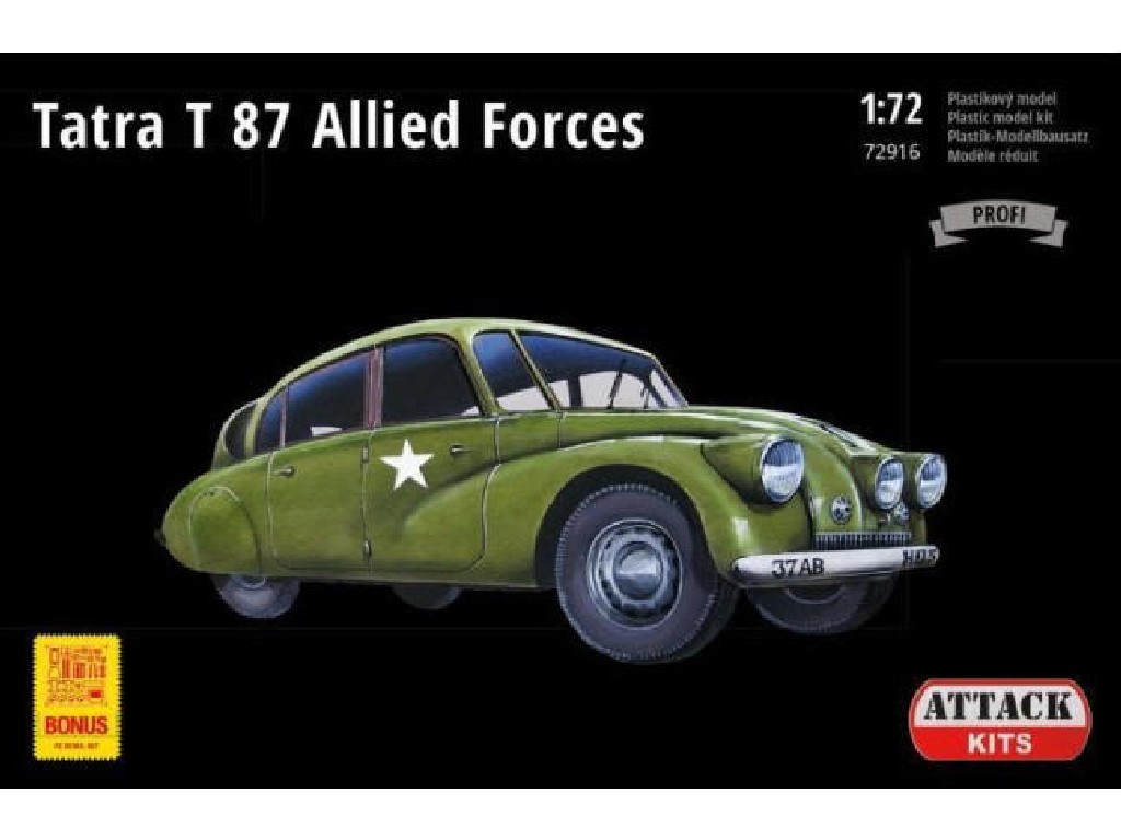 Attack Kits - 72916 - Tatra 87 Allied forces (New decals plus PE set) 1:72