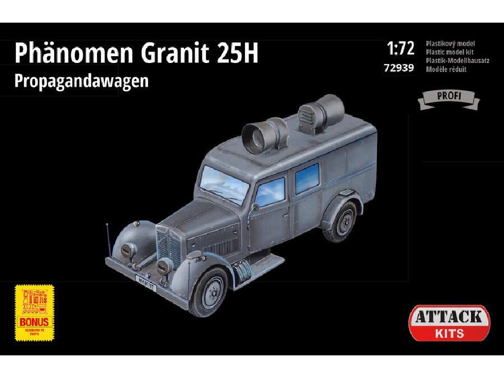 Attack Kits - 72939 - Phänomen Granit 25H Propagandawagen (PE exterior set, resin details including full interior) 1:72