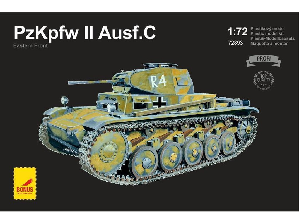 Attack Kits - 72893 - PzKpfw II Ausf. C Eastern Front (with 2 metal gun barrels) 1:72