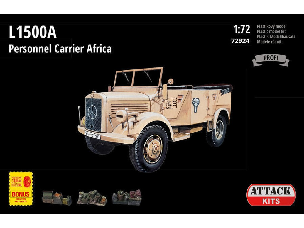 Attack Kits - 72924 - L1500A Personnel Carrier Africa (PE exterior set, resin alternative wheels) 1:72