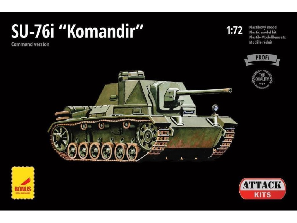 Attack Kits - 72891 - SU-76I Komandir (Command version) (with metal barrel) 1:72