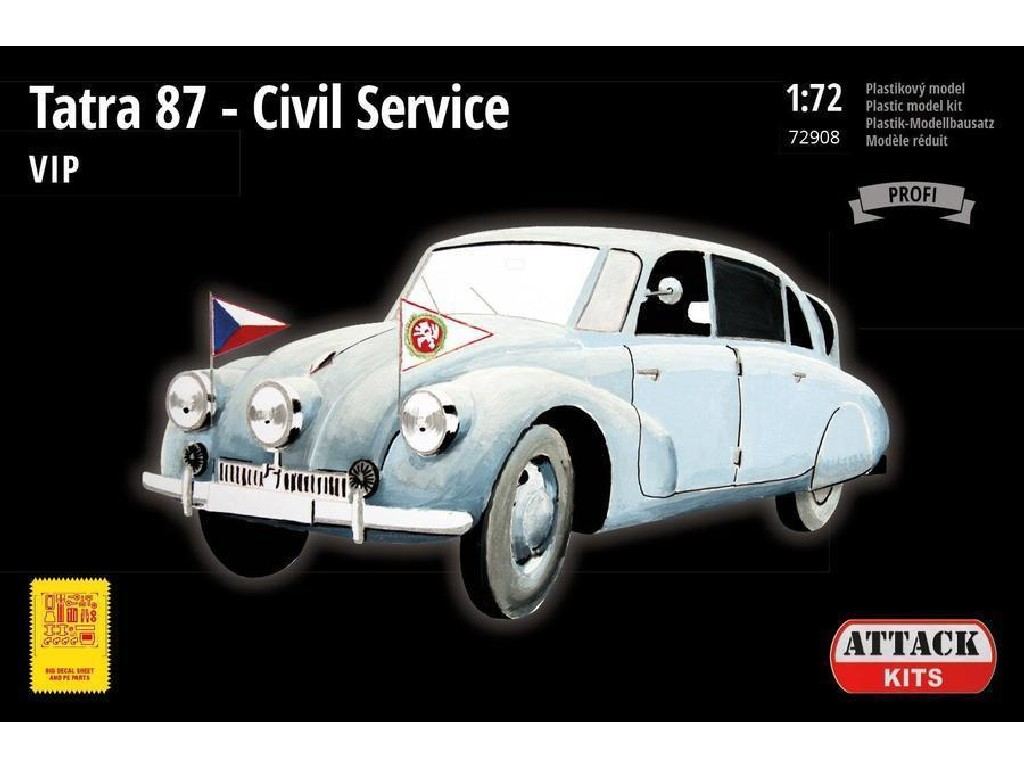 Attack Kits - 72908 - Tatra 87 Civil Service, VIP 1:72
