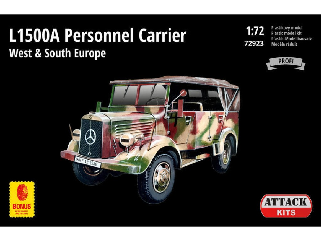 Attack Kits - 72923 - L1500A Personnel Carrier West + South Europe (PE exterior set, resin alternative wheels) 1:72
